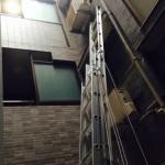 エアコン室外機 壁面工事2