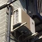 エアコン室外機 壁面工事 二階